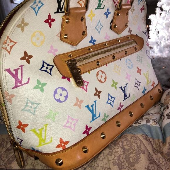 Louis Vuitton Handbags - Louis Vuitton White Multi Color Alma